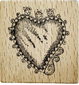 Herz-Stempel im Vintage-Stil