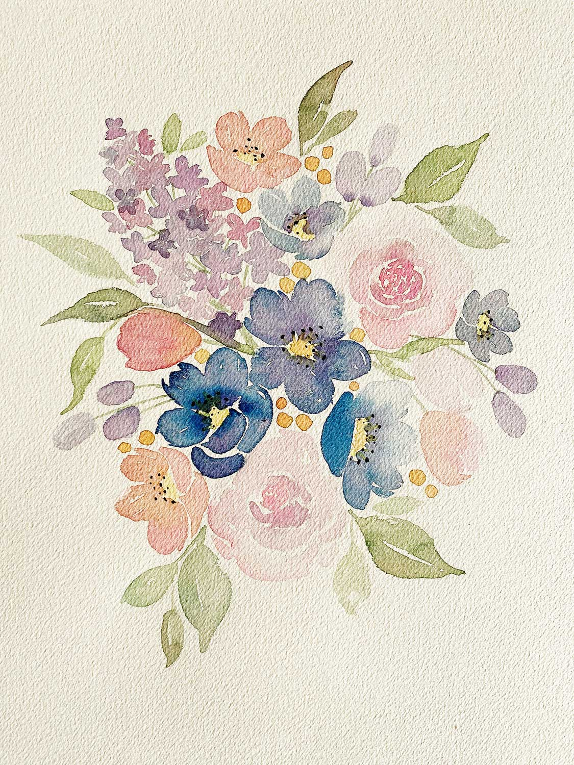 Loose Watercolor Florals