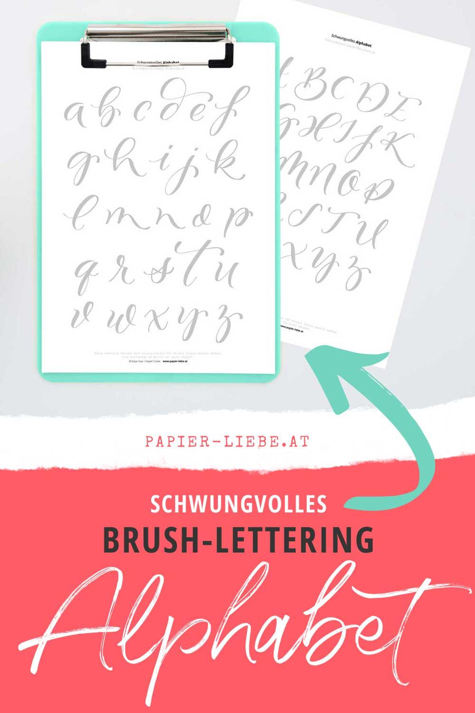 Schwungvolles Brush-Lettering-Alphabet