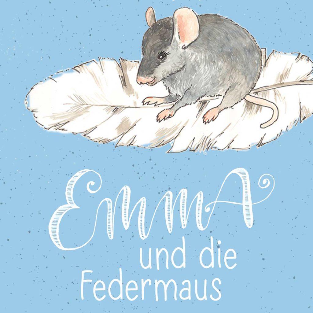 Emma und die Federmaus – Skizze Cover E-Book