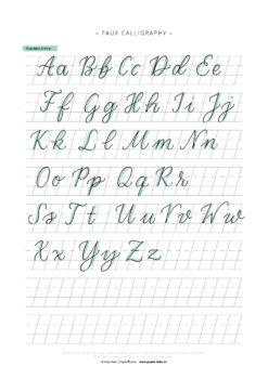 Faux-Calligraphy-Schummelzettel