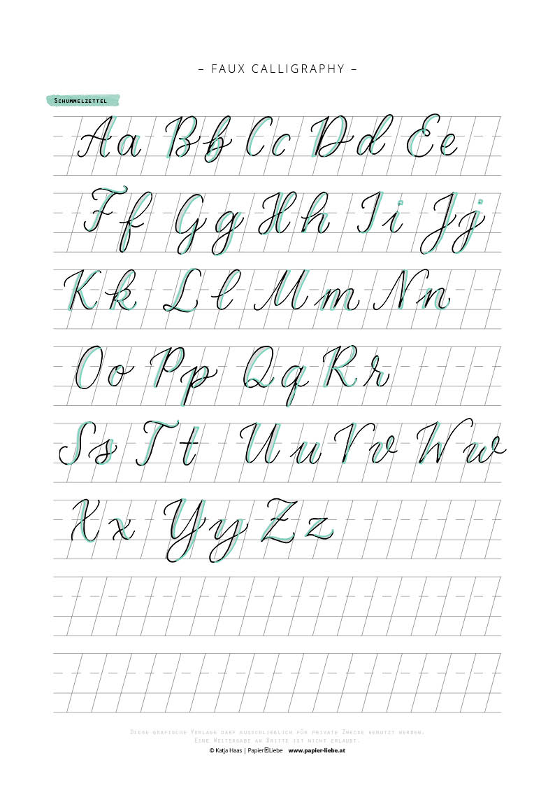 These Free Printable Hand Lettering Practice
