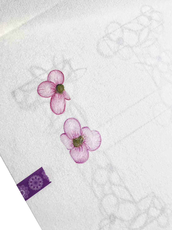 Botanical-Lettering – Schritt 1