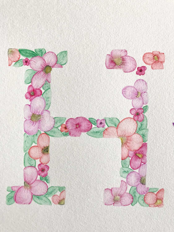 Botanical-Lettering – Schritt 3