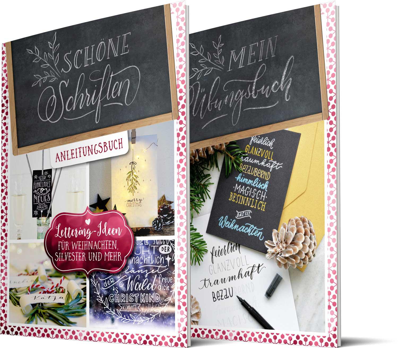 Lettering-Ideen für Weihnachten, Silvester und mehr