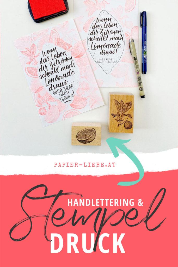Handlettering und Stempeldruck