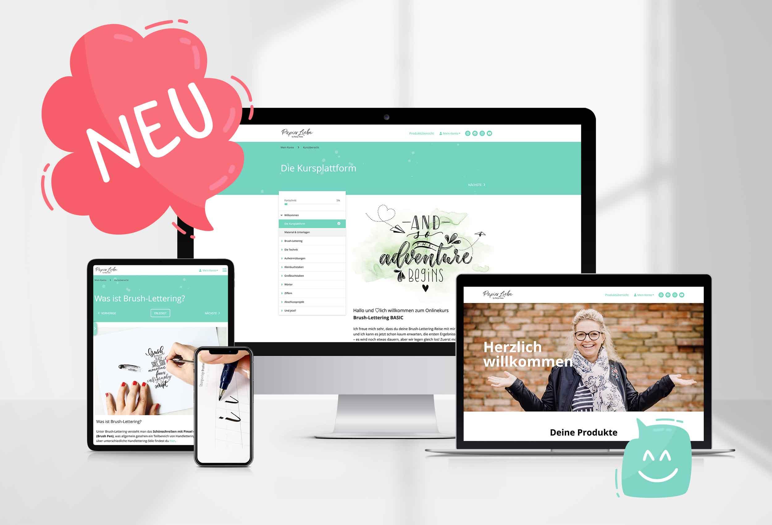 Onlinekurs Brush-Lettering BASIC mit Katja Haas PapierLiebe