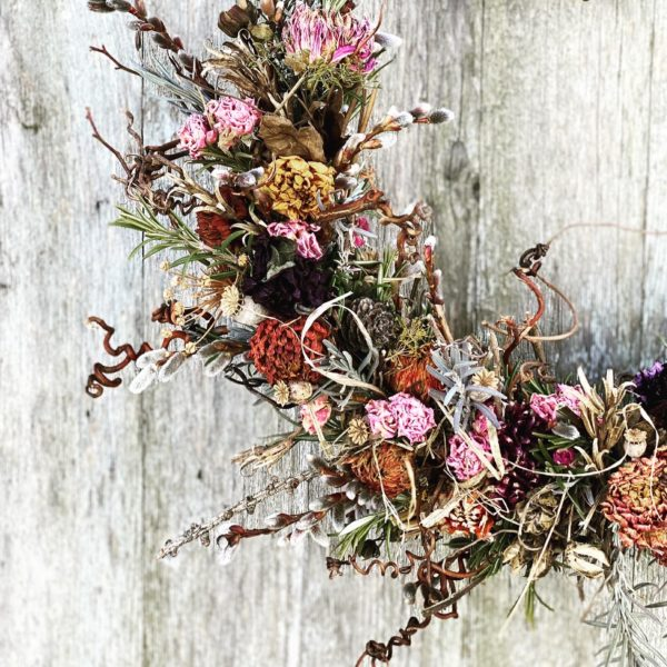 Trockenblumenkranzerl-Detail
